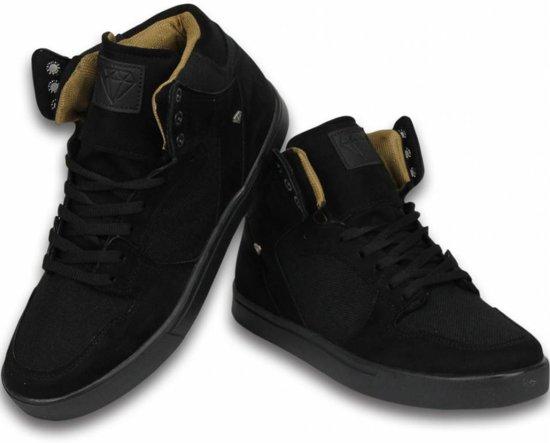 Cash Money Heren Schoenen - Heren Sneaker High - Riff Black - Maten: 44