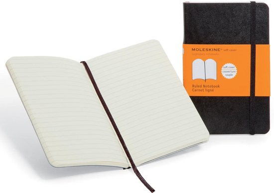 Moleskine Classic Notebook - Pocket - Ruled - Soft - Black