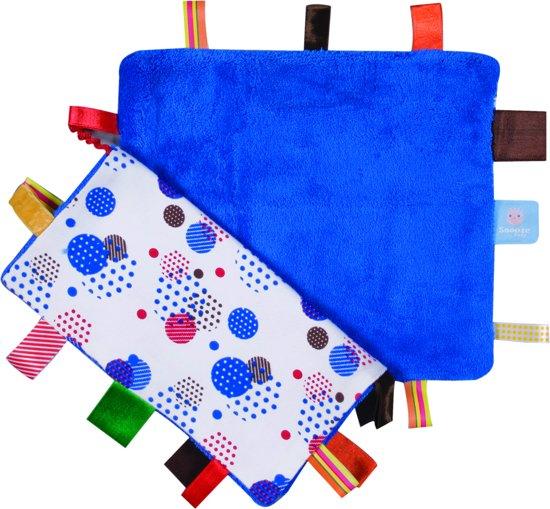 Snoozebaby - knuffeldoekje Comfort Toy Sweet - Blue - 25x25cm