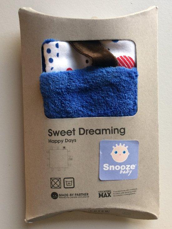 Snoozebaby knuffeldoekje Comfort Toy Sweet Dreaming Deep Blue (25x25cm)