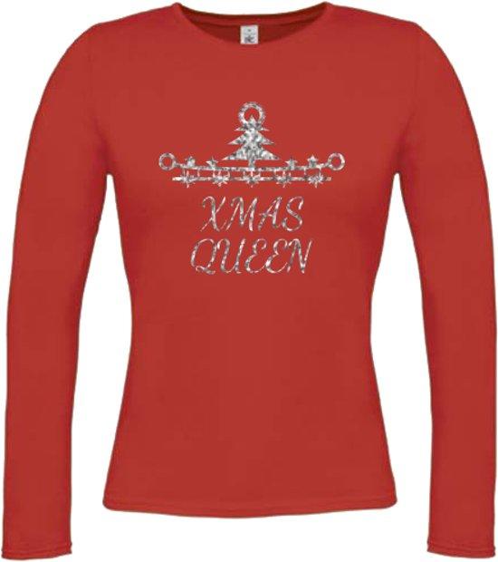 "Toppers tip: Kerst T-Shirt ""Xmas Queen"" (LONGSLEEVE, MAAT S)"
