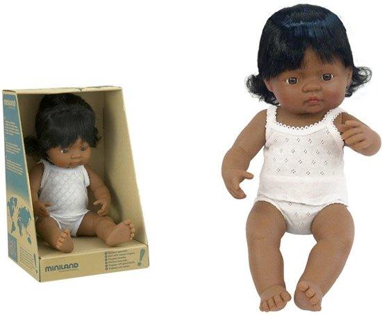 Miniland Babypop Latijns Amerikaans Meisje 38cm
