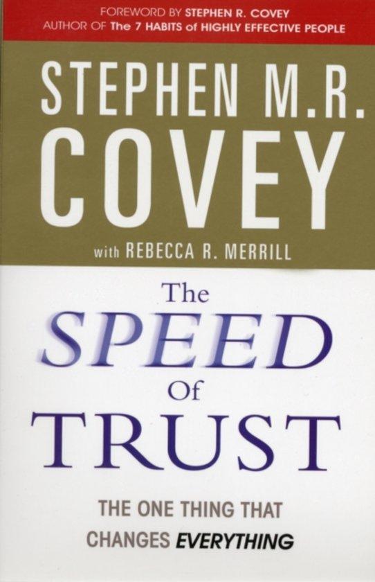 Boek cover The Speed of Trust van Stephen Covey (Paperback)