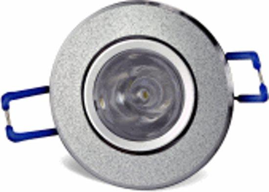 Bol mini led inbouwspot w zilver dimbaar kleur warm wit