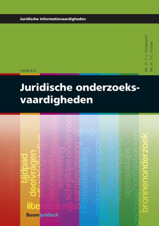 Juridische onderzoeksvaardigheden - C.L. Hoogewerf