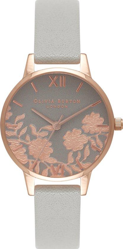 Olivia Burton Lace Detail Horloge - Grijs/Roségoud