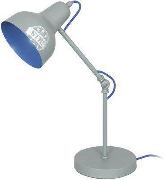 LIEF! Tafellamp bureaulamp  Ties (LF12025) grijs met blauw