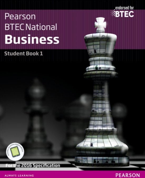 BTEC Nationals Business Student Book 1   Activebook