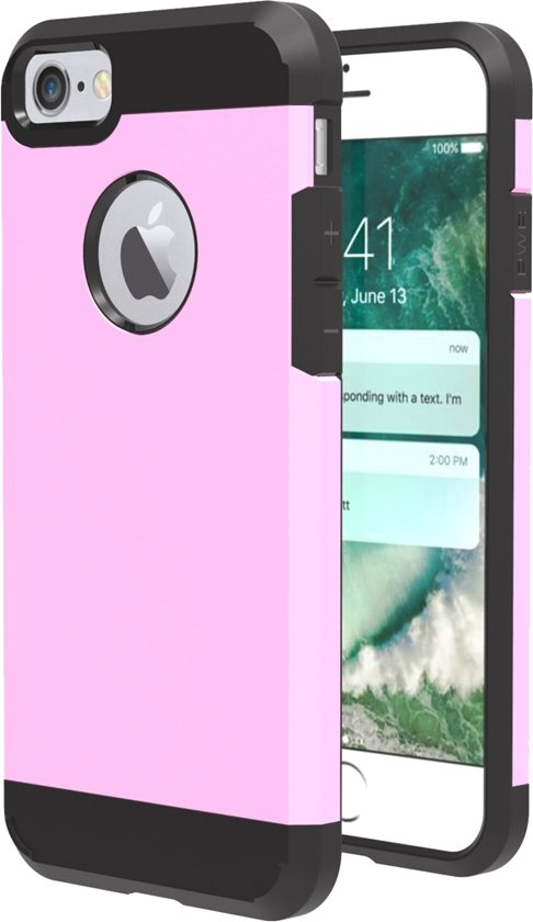 Mobigear TPU + PC Combination Case Pink voor iPhone 7 / 8
