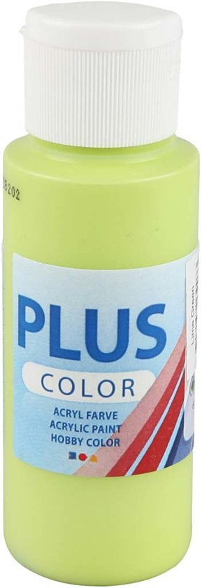 Plus Color acrylverf, lime green, 60ml