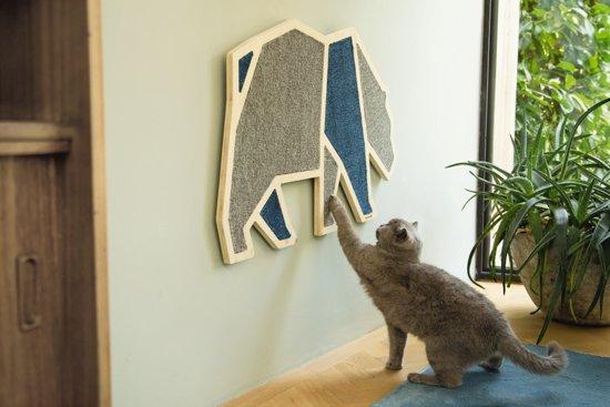 Beeztees Blue Bear - Krabplank - Hout - 84x54x1,8 cm