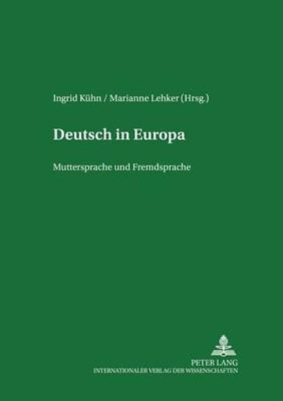Deutsch in Europa