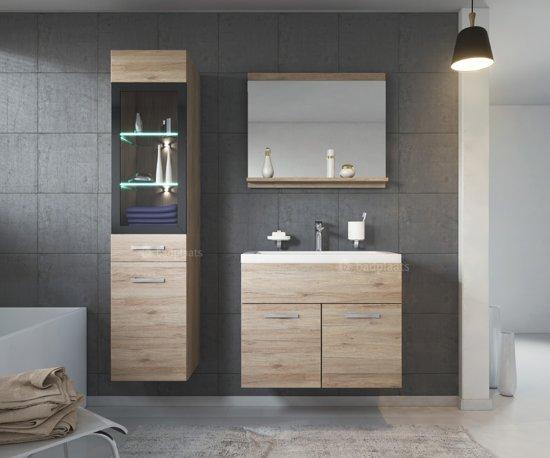 Badkamerkast Met Verlichting : Bol badplaats badkamermeubel rio cm san remo met spiegel