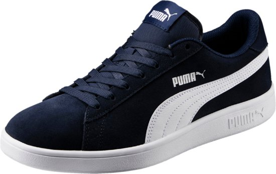 V2 White Unisex 46 Peacoat Puma Sneakers Smash Maat w5gCnqF