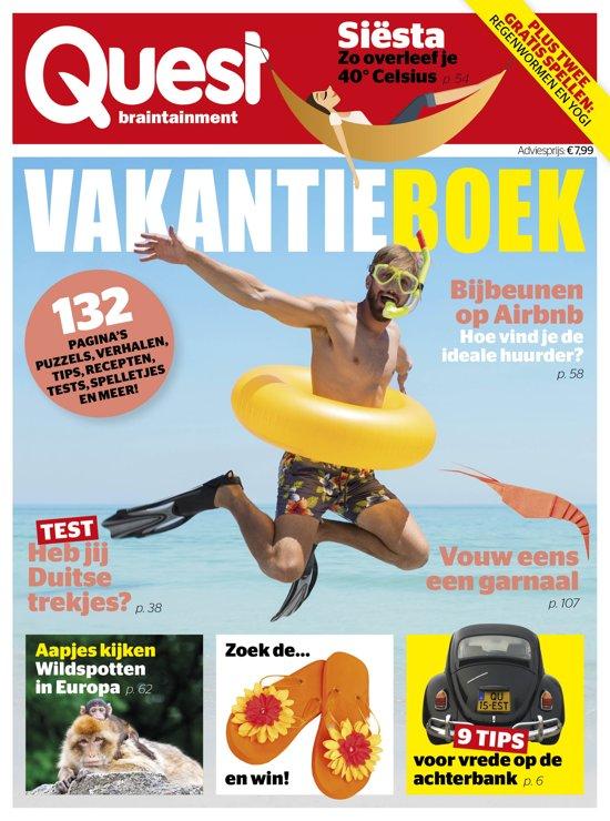 Boek cover Quest Vakantieboek 2019 van Hearst Magazines Netherlands B (Paperback)