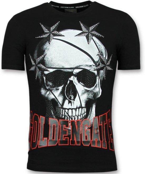 0ab73bbbd81528 Golden Gate Goedkope T shirts Heren - Glitter Shirt - Zwart - Maten  XS