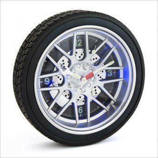 autoband - Klok - Rond - rubber/Rubber - Ø35 cm - Zwart