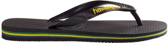 Logo 29 Havaianas 30 Zwart Maat Unisex Brasil Slippers aqYwq51