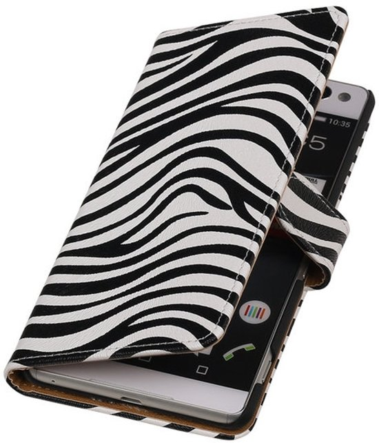 MP Case Zebra wallet case Sony Xperia C5 Ultra book type cover hoesje in Thynes