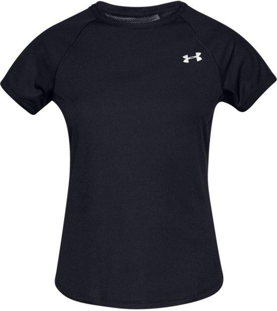 Under Armour Speed Stride Short Sleeve Dames Hardloopshirt - Zwart - Maat M