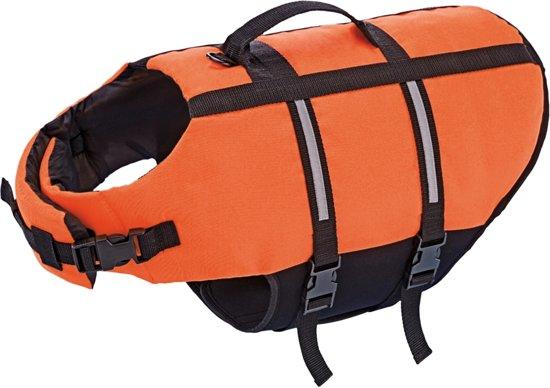 Nobby hondenzwemvest met handlus - Oranje - Maat L