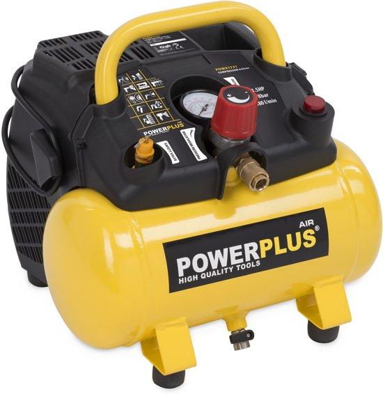 Powerplus POWX1721 Compressor - Max. 8 bar - 1100 Watt - 6 liter tankinhoud