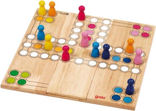 Bordspel: Ludo 24x24cm, speelveld kan aangepast worden aan