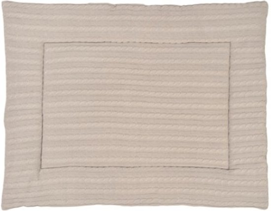 Jollein Little Naturals - Cable Boxkleed 80x100 cm - Zand