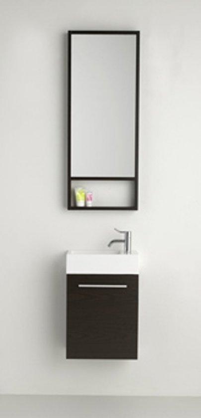 Nieuw bol.com | Plieger Slim toiletmeubel met spiegel 40cm wengé 0957171 UC-54