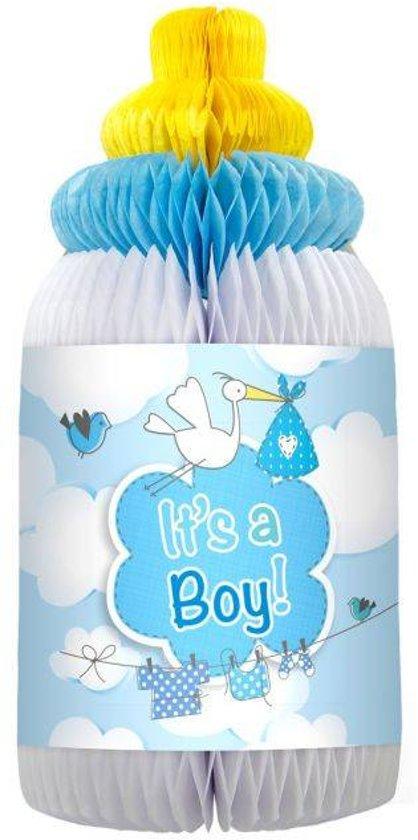 Geboorte Honeycomb Jongen Babyfles 33cm Valentinaa