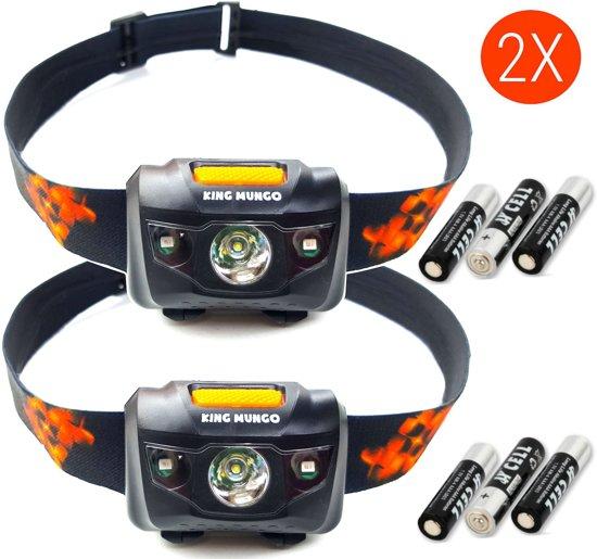 Hoofdlampen LED | 2 st. | 160 lm | incl. batterijen | zwart | KMHL008