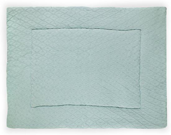 Jollein Diamond Knit - Boxkleed 80x100 cm - Vintage Groen
