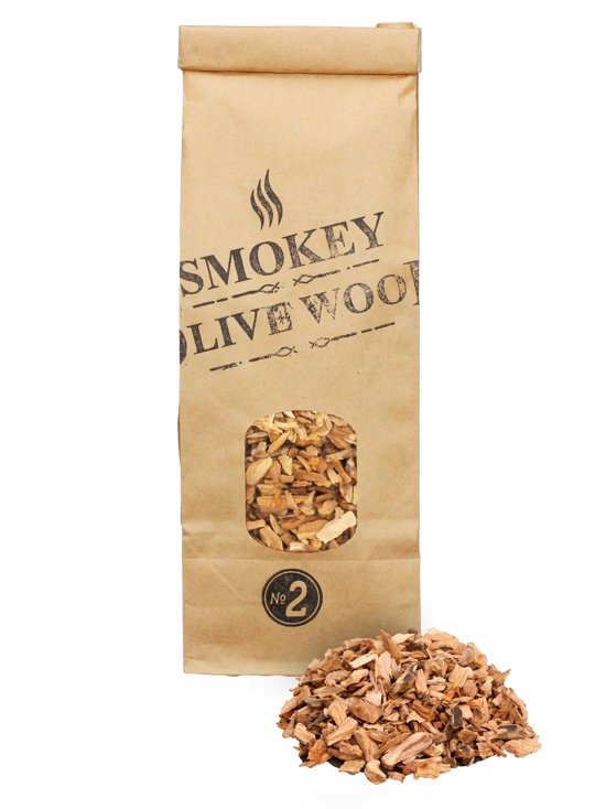 Smokey Olive Wood - Houtsnippers - 500ml -  Olijfhout - Chips medium ø 5mm-1cm