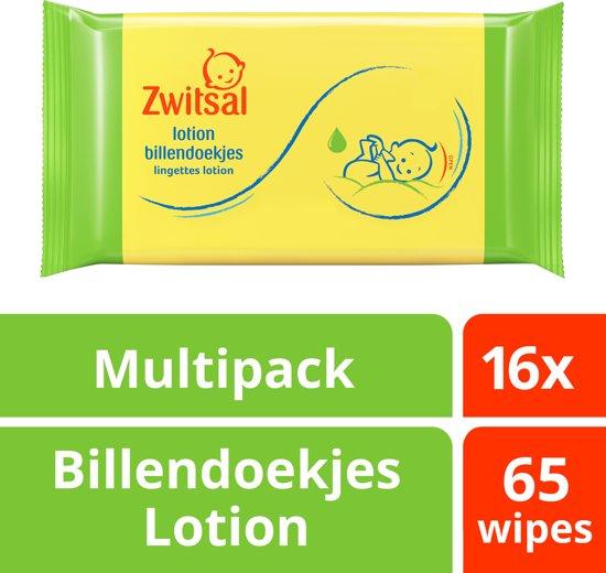 Zwitsal Baby Billendoekjes Lotion - 16 x 65 stuk - Voordeelverpakking