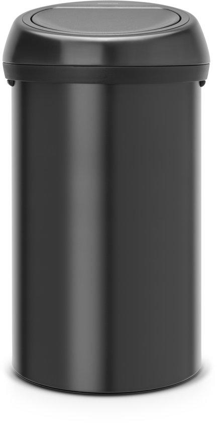 Brabantia Touch Bin 50 Liter Zwart.Brabantia Touch Bin Prullenbak 60 L Zwart