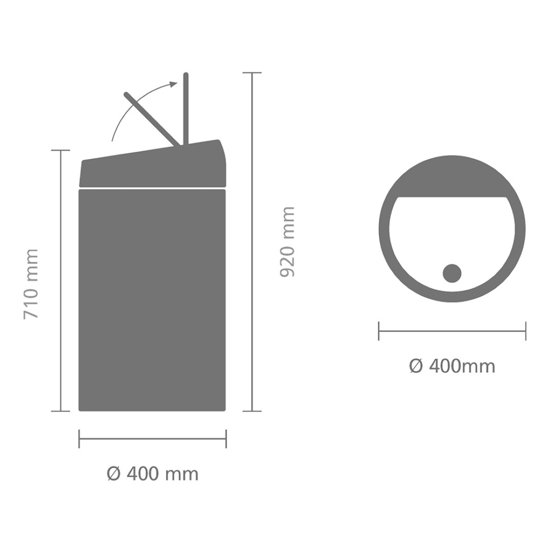 Brabantia Touch Bin 60 Liter Zwart