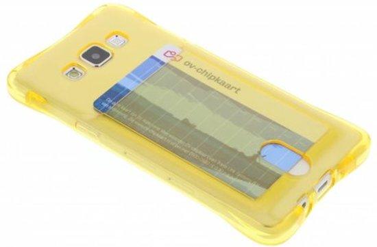 Cas De Tpu Jaune Avec Compartiment Pour Samsung Galaxy (plus) / Neo xlK4dPtzP