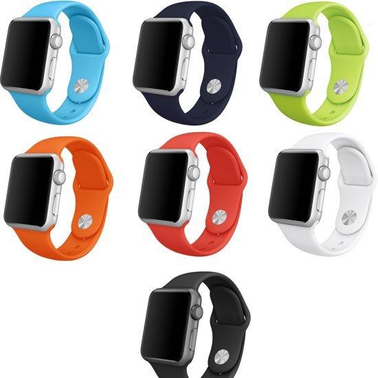 Multipack Siliconen sportbandje geschikt voor Apple Watch 42mm 7 kleuren - SmartphoneClip.nl