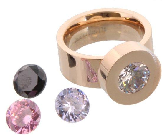 milano ring met verwisselbare steen