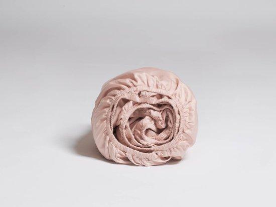 Yumeko Hoeslaken katoen satijn roze 90x200x30