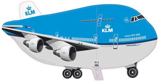 KLM Vliegtuig Folieballon 95x45cm Valentinaa