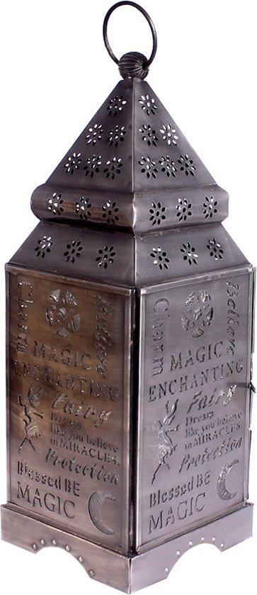 Lantaarn Magie zilverkleurig 30cm