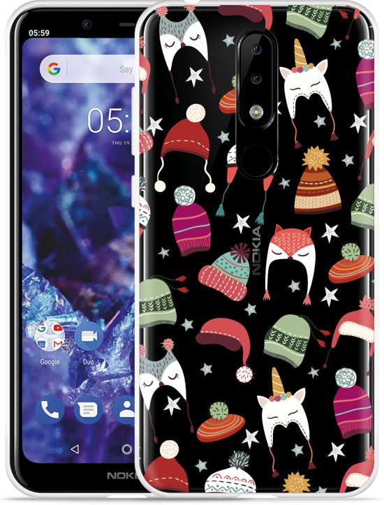 Nokia 5.1 Plus Hoesje Winter Hats