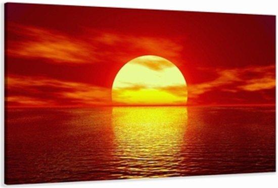 Ondergaande zon in zee 5094