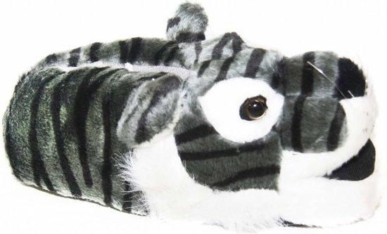 Dieren pantoffel tijger grijs 36/37