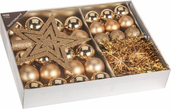 Home & Styling - Kerstballen Set - Goud - 33-delig