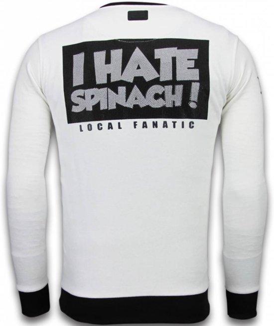 Xl Wit Maten Popeye Rhinestone Sweater Fanatic Local pHqwx7Yn