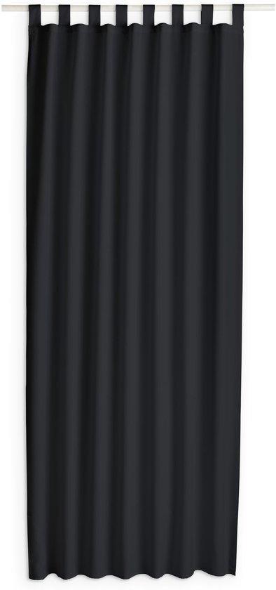 today kant en klaar gordijn met lus zwart 140cm x 260cm