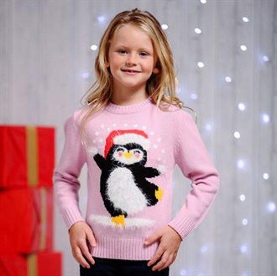 Kersttrui Stelletje.Bol Com Kersttrui Meisjes Wimpergaren Pinguin 128 134
