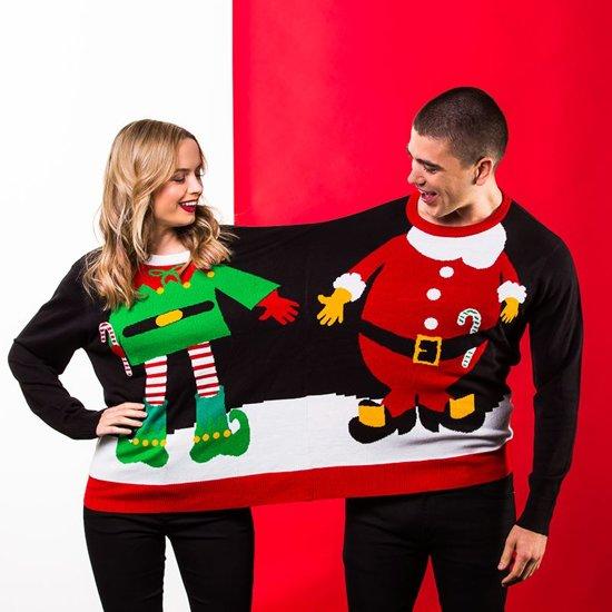 Foute Kersttrui voor 2 Personen - Dubbele Trui - Foute Kersttrui - Foute truien - Christmas Sweater - Grappige Kersttrui - 2 personen trui - One size fits all
